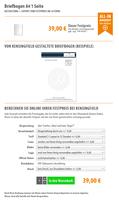 Briefbogen A4 1 Seite   ab 39 Euro