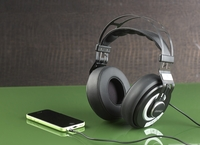 auvisio Over-Ear-HiFi-Headset OHS-420 mit Steuertasten