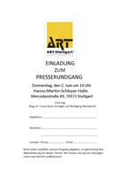 ART-Stuttgart Premierenmesse vom 2. bis 5. Juni 2016