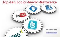 Infografik: Zehn relevante Social-Media-Netzwerke für Unternehmen