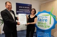 WSB erhält Siegel der Thüringer Servicestelle Windenergie