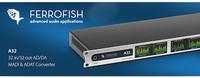 Ferrofish A32: Hochwertiger AD/DA-Wandler bietet volle MADI- sowie ADAT-Unterstützung mit bis zu 64 Kanälen