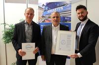 Stahlspedition Hergarten erhält Bonitätszertifikat CrefoZert