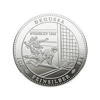 Tor oder nicht Tor: Das ist auch nach 50 Jahren immer noch die Frage! Degussa prägt legendäres Wembley-Tor in limitierter Silber-Gedenkprägung