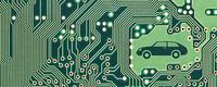 Elektronik fährt Auto