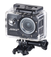 Somikon 4K-Light-Action-Cam, Full HD 60 fps, Unterwassergehäuse