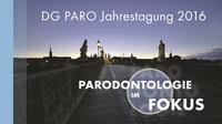 DG PARO Jahrestagung im September in Würzburg