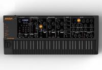 Studiologic Sledge Black Edition: Polyphoner Synthesizer mit klassischem Bedienfeld im schwarzen Retro-Design