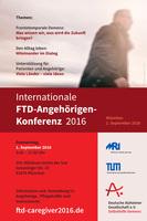 Frontotemporale Demenz  Internationale Konferenz für Angehörige und Pflegende am 1. September in München
