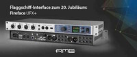 RME präsentiert Fireface UFX+: Neues Referenz-Audio-Interface mit niedriger Latenz, mächtigem DSP und 188 Kanälen per USB 3 oder Thunderbolt™