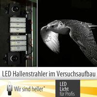 LED Hallenstrahler im Versuchsaufbau