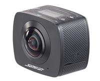 360°-Full-HD-Action-Cam mit 2 Objektiven für VR-Videos