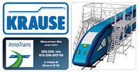 InnoTrans Berlin 2016: KRAUSE zeigt Zugangslösungen rund um Fahrzeuge und Verkehrstechnik