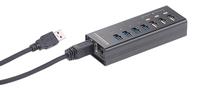 Xystec USB-3.0-Hub mit 4 Ports & 3 Schnell-Lade-Buchsen
