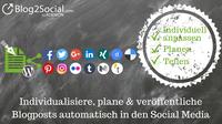 Automatisches Planen und Teilen von Blogbeiträgen auf Social Media