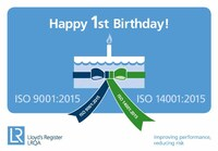 LRQA ISO Standards Update: Happy Birthday ISO 9001:2015 & ISO 14001:2015!