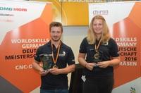 Eva-Maria Wahl und Lukas Bosslet sind Deutschlands beste Zerspaner