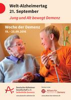 """""""Jung und Alt bewegt Demenz"""" - Gemeinsame Pressemitteilung von DAlzG, DGGPP und Hirnliga zum Welt-Alzheimertag 2016"""