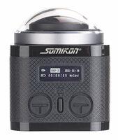 360°-4K-Action-Cam mit 16-MP-Sony-Sensor, 24 fps, Fernbedienung, Zubehör
