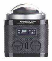 Somikon 360°-4K-Action-Cam mit 16-MP-Sony-Sensor, 24 fps