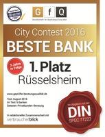 Rüsselsheimer Volksbank eG gewinnt DIN-Bankentest