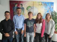 Fünf neue Azubis und Studierende an Bord bei REALTECH