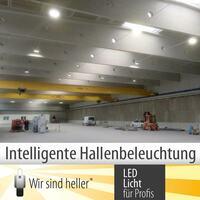 Intelligente Hallenbeleuchtung