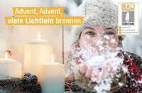 Advent, Advent, viele Lichtlein brennen