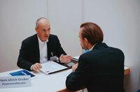 Personalberater Hans Ulrich Gruber bei den VDI Recruiting-Tagen