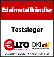 """Zum vierten Mal """"Bester Edelmetallhändler""""! - Degussa ist Testsieger 2016"""