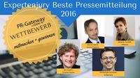 Beste Pressemitteilung 2016: Die Expertenjury