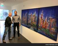 Frankfurter Skyline des Künstlers Friedhelm Meinaß für Stuttgart