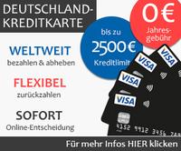 Kostenlose VisaCard Kreditkarte mit Teilzahlungsfunktion