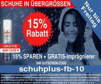Herbst-Aktion bei schuhplus – Schuhe in Übergrößen: 15% Rabatt auf Alles