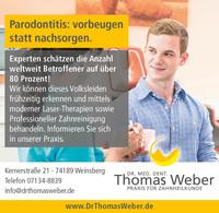 Volksleiden Parodontitis - Parodontosebehandlung. Zahnarztpraxis Weinsberg