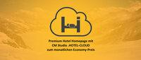 Premium Homepage für Hotels zum monatlichen Economy Preis