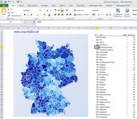 Excel Deutschlandkarte - Infografik für Controlling und Marketing