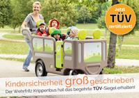 Safety first: Krippenwagen mit E-Motor jetzt TÜV-zertifiziert!