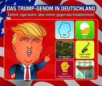 Das Trump-Genom in Deutschland: extrem, egal wohin, aber immer gegen das Establishment
