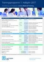 Neues Trainingsprogramm 2017 - 1. Halbjahr ist ab sofort verfügbar.