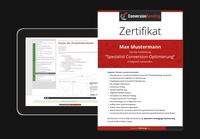 Erste TÜV-zertifizierte Conversion-Weiterbildung
