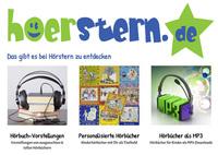 Speziell für Kinder: Hoerstern.de bietet ausgewählte Hörbücher, Hörspiele und Musik