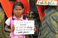 """Nein zu Kinderarbeit - Ja zu Bildung -""""Kinderfreundliche Städte"""" in Indien zeigen, wie es geht"""