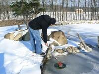 Fischluft für den Winterschlaf