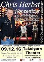 Chris Herbst Konzerttour 100% Deutschpop und Schlager