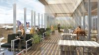 Hochmodern und mit Panorama-Terrasse: Neuer United Club im Flughafen von Los Angeles