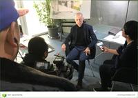 Chinesisches Fernsehteam bei Frey Architekten in Freiburg