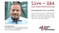 Live - Q&A auf Facebook, Thema: Cybermobbing