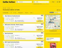 Mit der neuen Ergebnisliste von Gelbe Seiten noch schneller zum Ziel kommen
