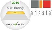 adesta erhält höchste Auszeichnung in Gold